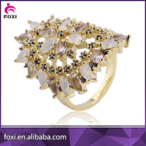 Wholesale Cheap Fashion Crystal Gold Rings pictures & photos