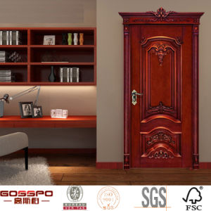 Natural Wood Front Interior Wooden Door for Homes (GSP2-069) pictures & photos