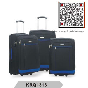 Polyester 2wheels Soft Inside Trolley Luggage (KRQ1318) pictures & photos
