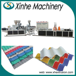 PVC Roof Tile Production Line/ PMMA-PVC Coloured Single Layer Tile Making Machinery pictures & photos