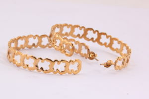 Fashion Stainless Steel Gold Plated Hoop Earrings for Women pictures & photos
