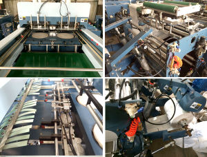 Double-Line High Speed Plastic T-Shirt Bag Making Machine pictures & photos