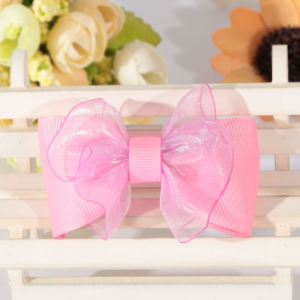 1 Inch Bow Grosgrain Black Sation Ribbon with Custom Design pictures & photos