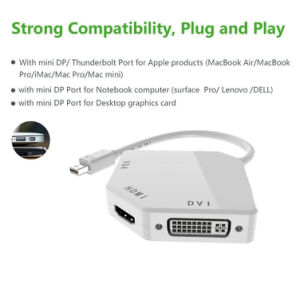 The Cobra Appearance Mini DP to VGA+HDMI+DVI Adaptor pictures & photos