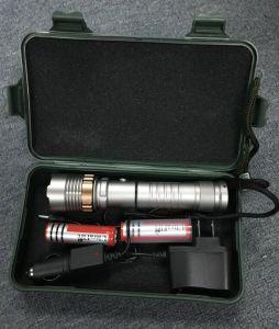 CREE Xml T6 2000lm 6 Mode Sos Zoom in and out LED Self Defence Luta Head Torch Tactical Aluminum Flashlight pictures & photos