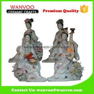 Wonderful Design Chinese Fairy Statue Figurine Sculpture with Chinese Lute pictures & photos