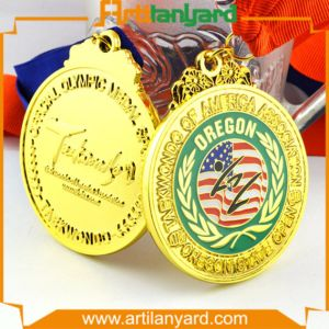 Customized Fashion Plated Gold Medal pictures & photos
