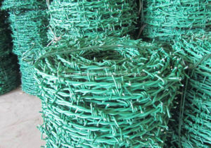 Hot-DIP Galvanized Barbed Wire Price Per Roll Made in China pictures & photos
