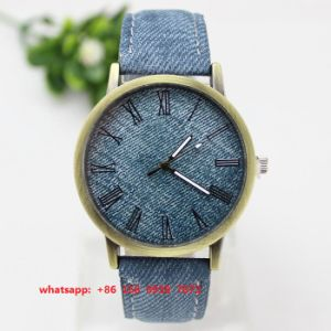 Hot Sales Quartz Watch with Cloth and Leather Strap Fs544 pictures & photos