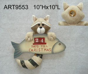 Burlap Christmas Ornament in Camo Color Racoon pictures & photos
