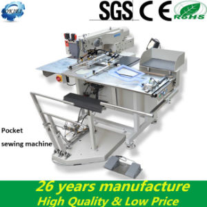 Hot Sell Industrial Automatic Pocket Welting Sewing Machine for Jeans pictures & photos