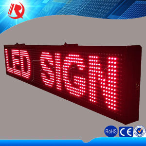 Clear Pixel Text Display LED Sign P10 Single Red Tube Chip Color LED Display Module pictures & photos