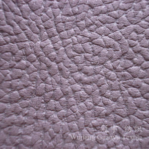 Compound Microfiber Suede Leather Fabric with Polar Fleece Backing pictures & photos