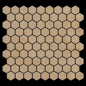 Crema Marfil Marble Mosaic Tile Hexagonal Honed pictures & photos