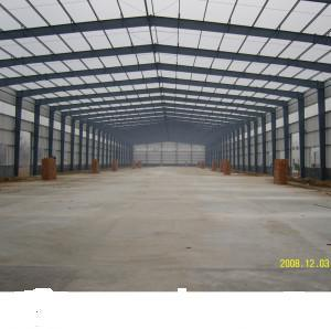 Corrugated Steel Sheet Large Span Steel Structure Warehouse (DG1-037) pictures & photos