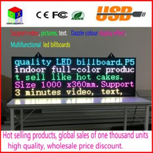 LED Display Panel Indoor Advertising RGB 7 Color Advertisement P5 SMD3528 LED Screen Sign Board pictures & photos