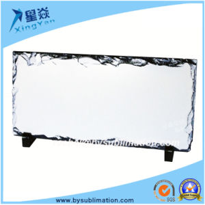 Rectangle Sublimation Rock Photo Slate with Stand pictures & photos