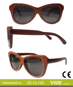 Fashion Wooden Sunglasees with High Quality (460-A) pictures & photos