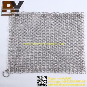 Skillet Cleaner Stainless Steel Chainmail Scrubber pictures & photos