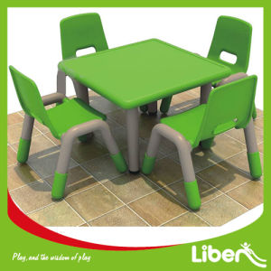 Hot Sale Kindergarten School Furniture Kids Plastic Dining Banquet Tables and Chairs Set (LE. ZY. 158) pictures & photos