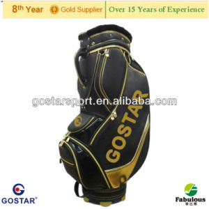 Unique Top Quality PU Leather Golf Staff Bag pictures & photos