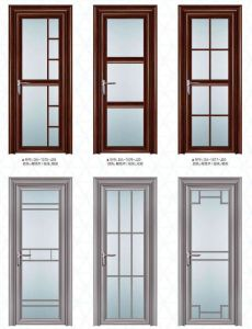 Cheap Aluminum Casement Bathroom Glass Door with Grill From Factory in Zhejiang, China (ACD-010) pictures & photos