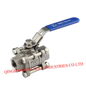 3-PC Full Bore Ball Valve, Threaded End pictures & photos