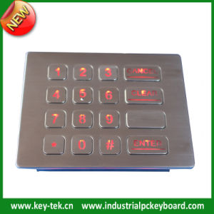 16keys Stainless Steel Keypad with Backlight