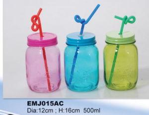 Hot Sale Round Shape Glass Drink Storage Mason Jar
