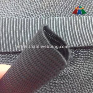 3cm Black PP Flat Tubular Webbing pictures & photos
