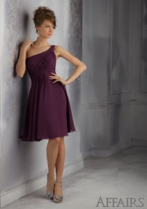 One Shoulder Formal Evening Bridesmaid Fashion Dresses (FD14003) pictures & photos