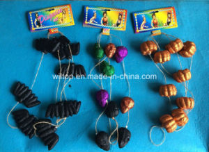Halloween Glitter Pumpkin, Bat and Skull Strings Decoration (DH004) pictures & photos