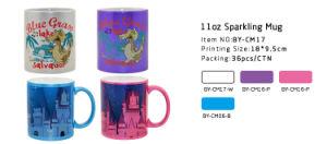 Pearl White Sublimation 11oz Sparkling Mug pictures & photos