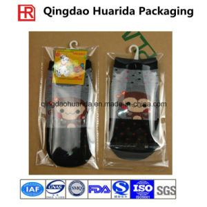 Colorful Printing Plastic Socks Packaging Bag with Zipper pictures & photos
