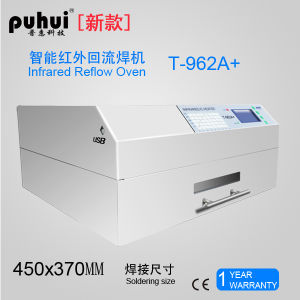 Infrared and Hot Air LED SMT Desktop Reflow Oven Puhui T962A+ pictures & photos