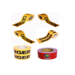 LDPE Red and White Plastic Safety Warning Tape pictures & photos