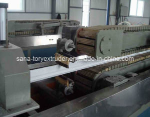 Plastic Extruder Machine UPVC Profile Extrusion Production Line pictures & photos