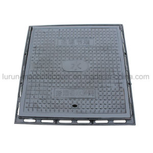 600X600 A15/B125/C250/D400 Heavy Duty Polymer Resin Sewer Square Iron Manhole pictures & photos