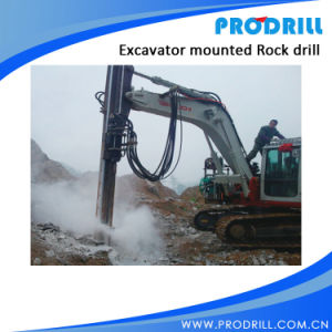 Pd-Y90 Hydraulic Excavator Mounted Rock Drilling Rig for Borehole Drilling pictures & photos