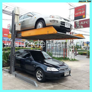Twin Pillar Car Parking Lift pictures & photos