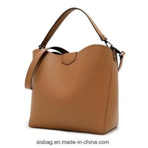 High Quality PU Soft Hobo Bag Ladies Bucket Handbag pictures & photos