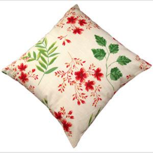 Fancy Silk Decorative Flower Cushion Cover