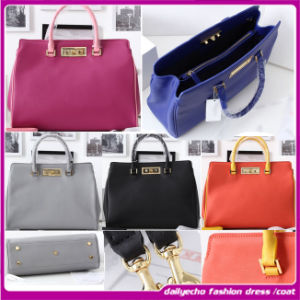 2015 China Manufacturer Bright Color Fashion Ladies Leather Designer Handbag, Fashion Bag, Mummy Bag, Diaper Bag (D0268)