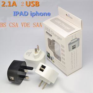 Hot Sale High Quality BS USB CSA VDE SAA Power Adapter/USB Phone Charger/Portable Mobile Charger pictures & photos