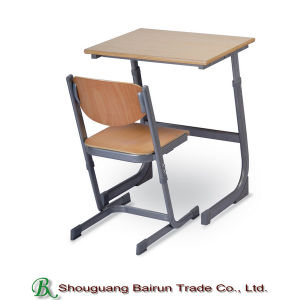Classroom Furniture Double Desk and Chair pictures & photos