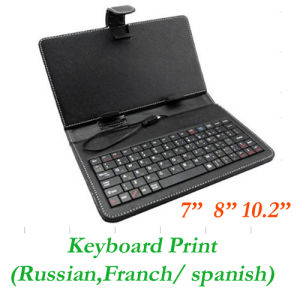 """List » Tablet Accessories » 10"""" Leather Case Keyboard for Tablet PC"""