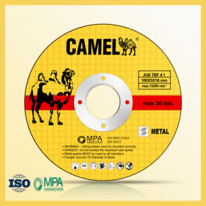 "4"" 100X2.5X16mm T41 Flat Camel Cutting Disc pictures & photos"