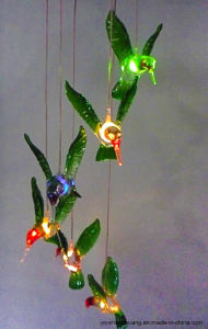Color Changing Solar LED Wind Chimes Lights with Hummingbirds for Decoration SL-FL-Hb pictures & photos