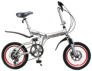Alloy Frame Folding Bike with Shimano 7 Speed Suspension Folk pictures & photos