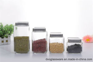 Glass Storage Bottle with Stainless Steel Lid